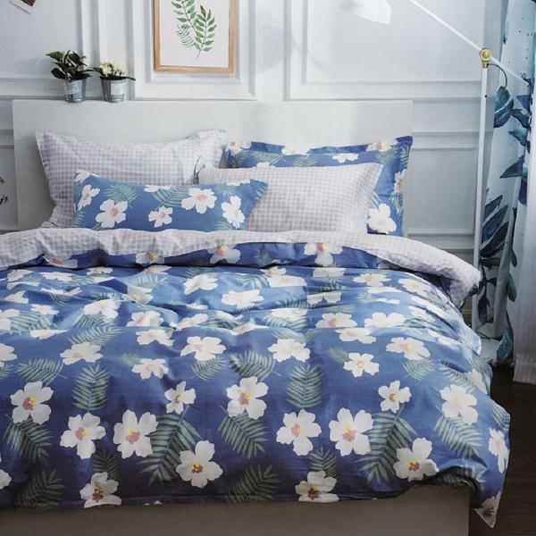藝術氣息-精梳棉印花/單人三件式兩用被床包組