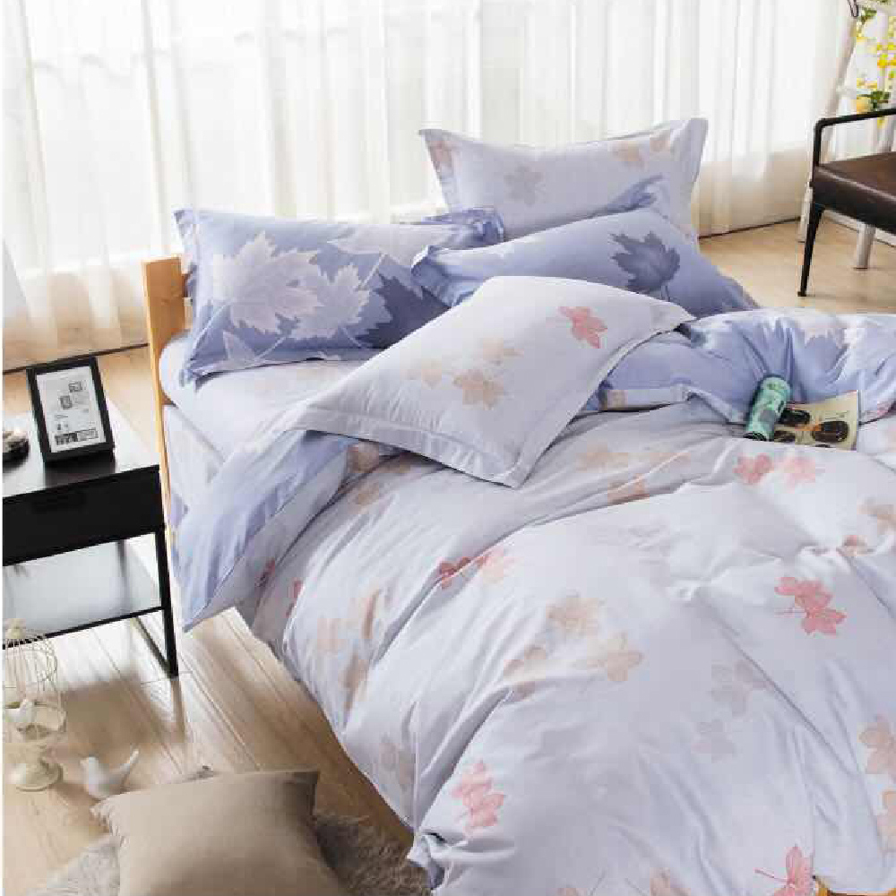 迷人氣息-精梳棉印花/四件式兩用被床包組